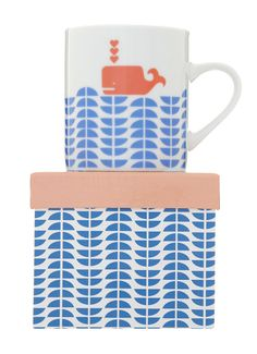 I. Love. This. :: Abode collection whale & sea mug by mengseldesign on Etsy