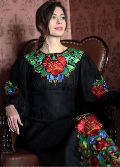Елегантна вишита сукня з поясом, який підкреслює талію ПЛ-770356