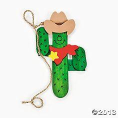 cowboy craft   Western Cactus Magnet Craft Kit - Oriental Trading