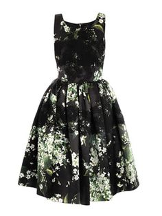Lily of the Valley print prom dress, Dolce and Gabanna