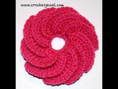 Amy's Crochet Creative Creations: Crochet Spiral Flower With Video