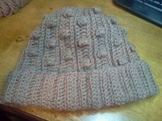 Made my very 1st hat!!  Found the FREE pattern Here: http://www.eatingoutloud.com/2012/03/bumpy-popcorn-crochet-hat-pattern.html