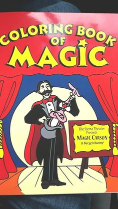 """""""A Fun Magic Coloring Book"""" Reg size bought from Historic Abbotts Magic Co. USA #MagicMakers"""