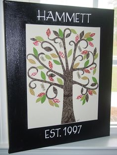 Family Tree, great idea for a Christmas gift!