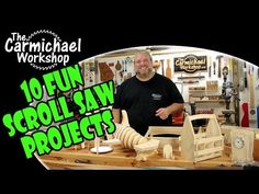 The Carmichael Workshop: 10 Fun Scroll Saw Woodworking Projects Learn Woodworking, Woodworking Videos, Woodworking Plans, Woodworking Projects, Wood Projects For Beginners, Fun Projects, Craftsman Router, Sliding Mitre Saw, Scroll Saw Blades
