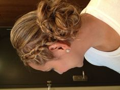 Bridesmaid hair but less messy in the back