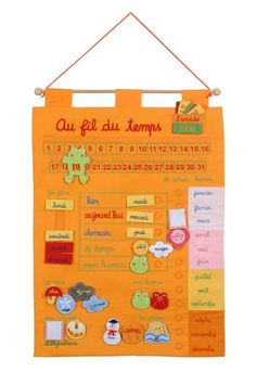 Calendrier perpetuel ! Daily Routine Chart For Kids, Charts For Kids, Teaching French, Happy Family, Montessori, Activities For Kids, How To Plan, Uni, Simple