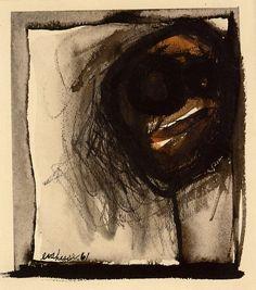 slcvisualresources:   Eva Hesse, Untitled(1961, ink and crayon on paper, Baltimore Museum of Art, Maryland)