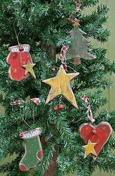 Primitive Christmas Decorations   ... Christmas Holiday Ornament - Christmas and Holiday - Primitive Decor