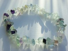 Fluorite Bracelet via Hippychick Creations. Click on the image to see more!