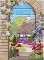 Summer Garden Long Stitch Kit by Derwentwater Designs from the range 'Seasons in Long Stitch' designed by Rose Swalwell.