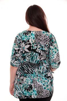 Блузка А2434 Размеры: 62-70 Цена: 330 руб.  http://optom24.ru/bluzka-a2434/  #одежда #женщинам #блузки #оптом24