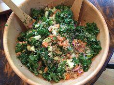 quinoa salad with sweet potatoes and apples. #glutenfree #vegan #salad #fallrecipes #fastrecipes #quinoa #kale #recipe  bootedprincessa.wordpress.com