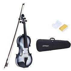 ammoon 44 Full Size Basswood Violin Maple Scroll Fingerboard Pegs Tailpiece with Rosin Bow Violin Case Gradient Color *** Click image for more details.Note:It is affiliate link to Amazon.