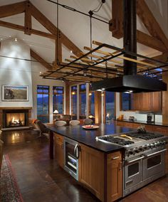 Emma Farmhouse by Greenline Architects in Colorado. Soapstone counter top Concrete floors