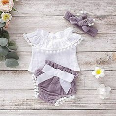 Newborn Baby Girl Clothes Flare Sleeve Romper Floral Short Pants Summer Outfit Set Your Baby Needs Are Here Baby Girl Fashion baby clothes Flare Floral girl newborn outfit Pants Romper Set short Sleeve summer Baby Clothes Patterns, Cute Baby Clothes, Baby Girl Clothes Summer, Kids Outfits, Summer Outfits, Toddler Outfits, Baby Girl Newborn, Newborn Baby Girl Outfits, Baby Girls