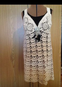 Dress Crochet Top, Tops, Dresses, Women, Fashion, Gowns, Moda, Fashion Styles, Shell Tops