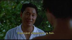 Sonatine (ソナチネ) 1993. Director/Writer: Takeshi Kitano. Murakawa reassures Miyuki...(Takeshi Kitanto