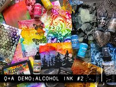 Alcohol Ink Tiles, Alcohol Ink Glass, Alcohol Ink Crafts, Alcohol Ink Painting, Tim Holtz Blog, Alcohol Ink Jewelry, Tim Holtz Stamps, Stencil Printing, Card Making Tips