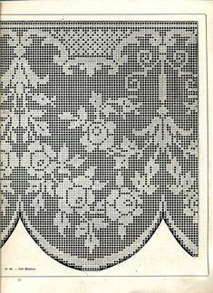 """Photo from album """"Edouard Boucherit - Grand album de modeles pour Filet on Yandex. Filet Crochet, Crochet Lace Edging, Crochet Doily Patterns, Unique Crochet, Crochet Borders, Beautiful Crochet, Diy Crochet, Crochet Doilies, Crochet Flowers"""