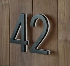 The LED Bronze House Numbers are made from a solid piece of aluminium Illuminated House Numbers, Led House Numbers, Door Numbers, House Number Plaque, Address Numbers, House Numbers Modern, Address Signs, Wc Sign, Beach Cottage Decor