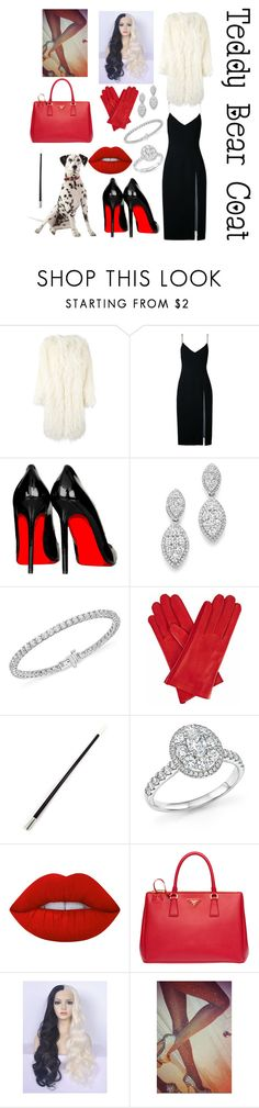 """""""Cruella De Vil"""" by iconicserialkiller1998 ❤ liked on Polyvore featuring DKNY, Christopher Esber, Bloomingdale's, Gizelle Renee, Lime Crime, Prada and WithChic"""