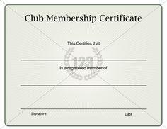 Exceptional Unique Club Membership Certificate Download   123Certificate Templates  #Certificate #Template  Club Membership Template