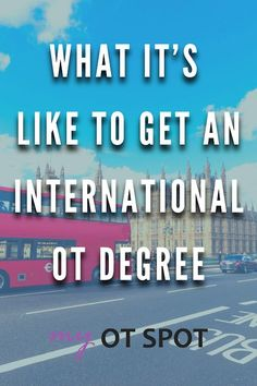 Thinking of getting an occupational therapy degree internationally? It's totally possible! Read on from a US-based OT who did just that, with tips for you to get started. Occupational Therapy Degree, Find A Job, Student, Reading, School, Tips, Reading Books, Counseling