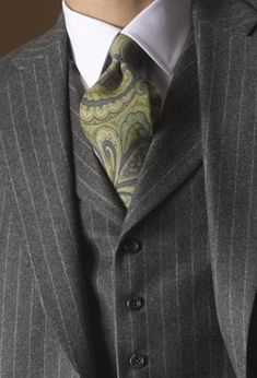 gray pinstripe suit? i can work with that.