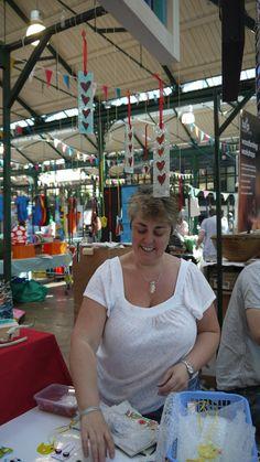 Ruth Walker Glass at St George's Market, Belfast
