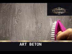 Декоративная штукатурка - ЛОФТовая выбеленная / Decorazza Art beton - YouTube