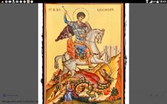 A beautiful Greek Orthodox icon of St. George killing the Dragon, handmade & hand painted by an expert Greek hagiographer. Paint And Varnishes, Powder Paint, Roman Soldiers, Artist Signatures, Orthodox Icons, Patron Saints, Tempera, Any Images, Christianity