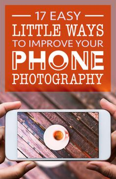 17 Easy Little Ways To Improve Your Phone Photography. Mobile phone photography tips come in all sizes. Little improvements lead to big results, so start learning about phone photography and how you can improve yours today. Mobile Photography Tips, Photography Lessons, Iphone Photography, Photography Tutorials, Digital Photography, Amazing Photography, Outdoor Photography, Photography Lighting, Flash Photography