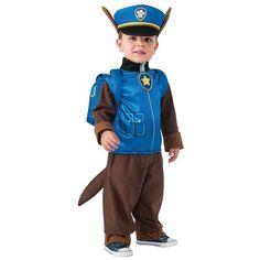 Kids Paw Patrol Chase Costume, Boy's, Size: 4-6, Blue