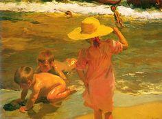 Joaquín Sorolla y Bastida (Spanish, 1863-1923)   Ninos A La Orilla Del Mar (Children at the Seashore), 1903