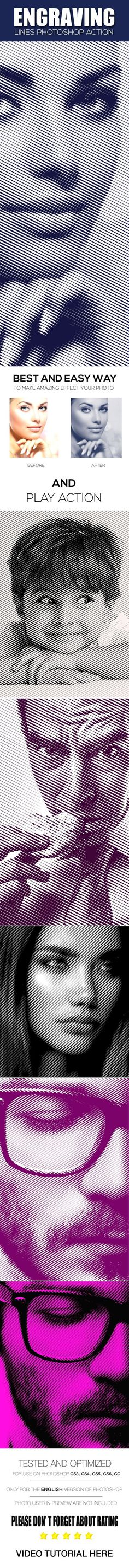Engraving Lines #Photoshop Action - #Photo Effects #Actions Download here: https://graphicriver.net/item/engraving-lines-photoshop-action/19577968?ref=alena994