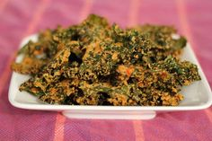 Kale chips w/ cashew seasoning - YUM!  I made a siracha version.  The key is to bake them as long as possible so they become completely crisp and thus to not get all chewy and meh when you store them.