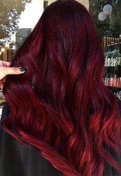 Burgundy Hair Color Shades: Wine/ Maroon/ Burgundy Hair Dye Tips . - - Burgundy Hair Color Shades: Wine/ Maroon/ Burgundy Hair Dye Tips Red Hairstyle Models 2019 Top Be. Maroon Hair Colors, Burgundy Hair Dye, Cute Hair Colors, Cool Hair Color, Burgundy Wine, Burgundy Color, Color Red, Red Wine, Hair Colours