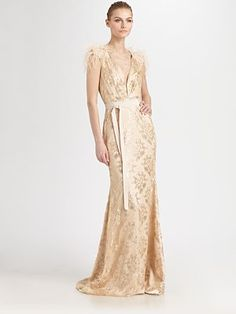 This Badgley Mischka seems like a steal. Anyone who is thinking about a glam wedding would be eye-popping in this dress.