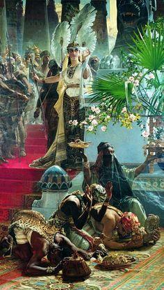 Drottningen av Saba by Julius Kronberg Queen of sheba
