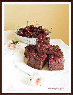 Kriszta konyhája- Sütni,főzni bárki tud!: Meggyes-csilis brownie ( paleo )
