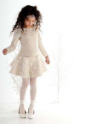 Biscotti Filigree Splendor Ivory 2pc Rose Tulle Skirt Set