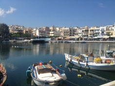 Άγιος Νικόλαος (Agios Nikolaos) à Λασίθι, Λασίθι Crete, Natural Beauty, Boat, Places, Nature, Beautiful, Greece, Travel To Greece, Dinghy