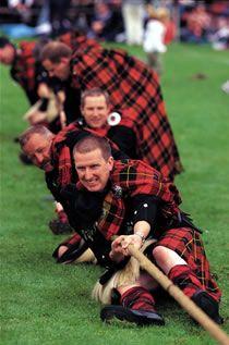 Tug of War, Walllace Clan, Lonach Highland Gathering.