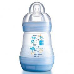 Mam - Biberon Africa Bleu Système Anti-Colique Tétine Débit 1 - 160 ml