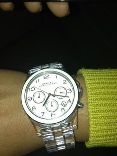 @Marc Jacobs Intl watch with a clear band