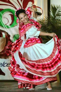 Beautiful Mexican folk dancer.