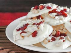 White Chocolate Cashew Pomegranate Clusters