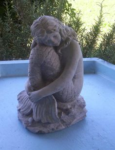 MERMAID STATUE  For Ponds and Gardens by concretecrone on Etsy, $19.99