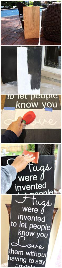 vintage sign tutorial!  SO EASY!